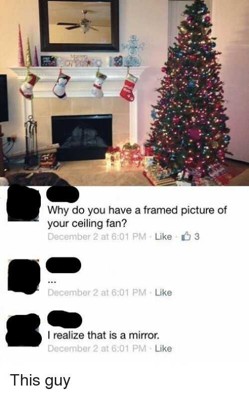 Why Do You Have A Framed Picture Of Your Ceiling Fan December 2 At