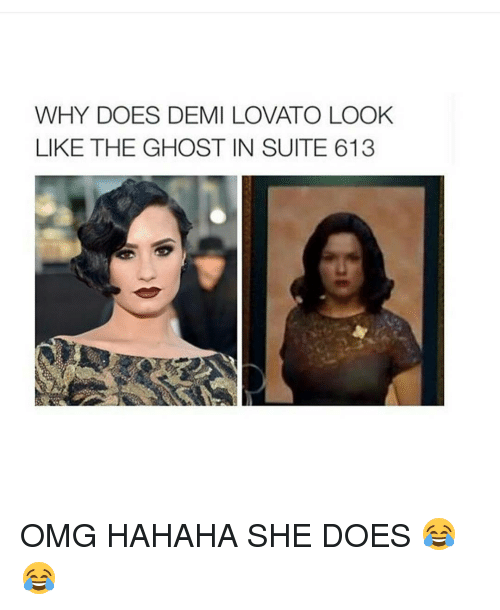 why does demi lovato look like the ghost in suite 7228468 why does demi lovato look like the ghost in suite 613 omg hahaha she