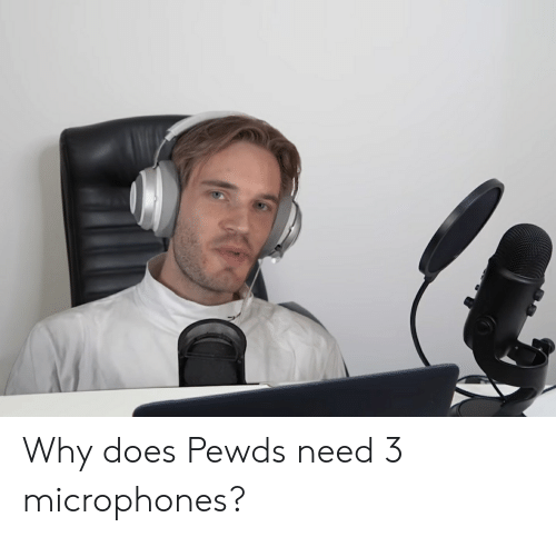 Why,  Need, and Pewds: Why does Pewds need 3 microphones?