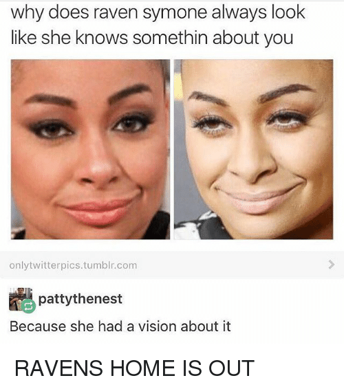 Why Does Raven Symone Always Look Like She Knows Somethin About You