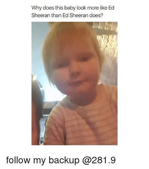 why does this baby look more like ed sheeran than 16829024 why does this baby look more like ed sheeran than ed sheeran does