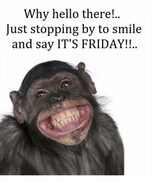 Its Friday Funny Quotations: Why Hello There! Just Stopping By To Smile And Say IT'S