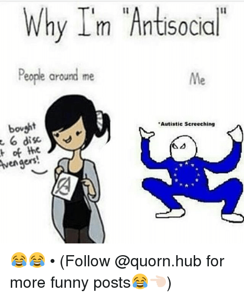 Why Im Antisocial People Around Me Me Bovaht Autistic ...