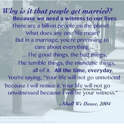 Blood Wedding Quotes: Why Is It That People Get Married? Because We Need A