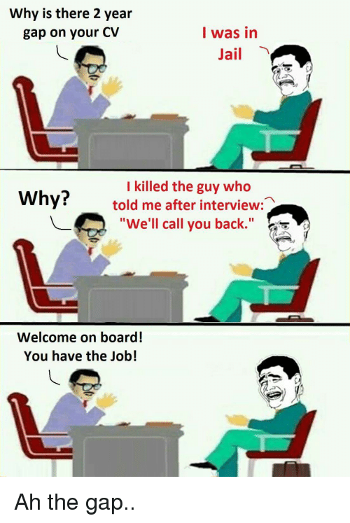 calling back after interview