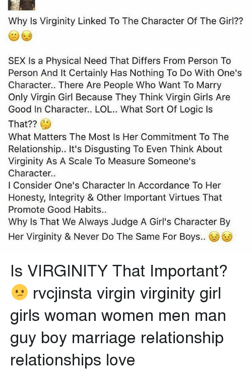 Virginity important to guys