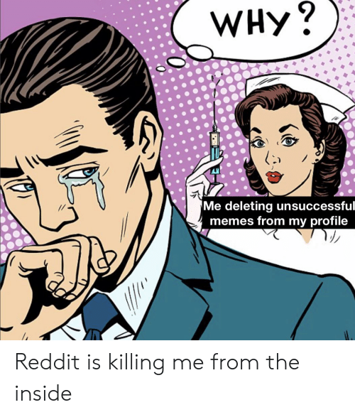 WHy? Me Deleting Unsuccessful Memes From My Profile Reddit