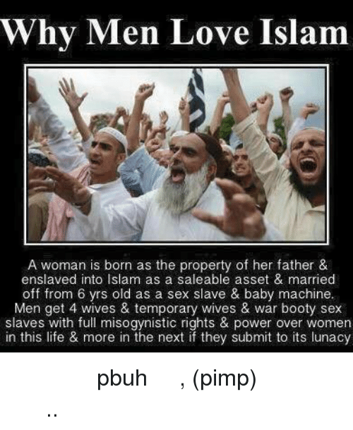 Men in islam can have many sex slaves