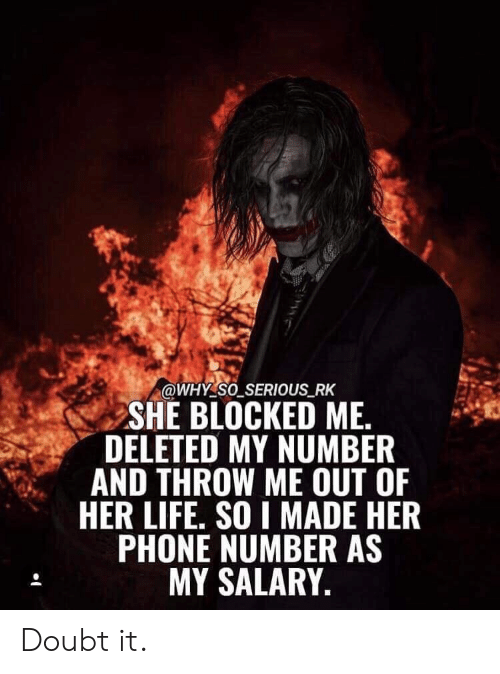 She blocked my number is it over