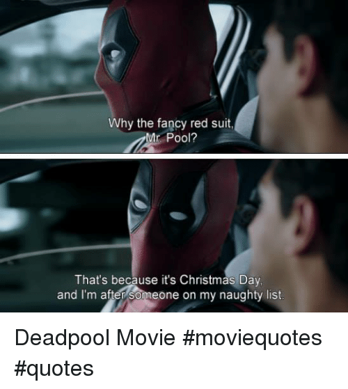 Why the Fancy Red Suit Mr Pool? That\'s Because It\'s ...