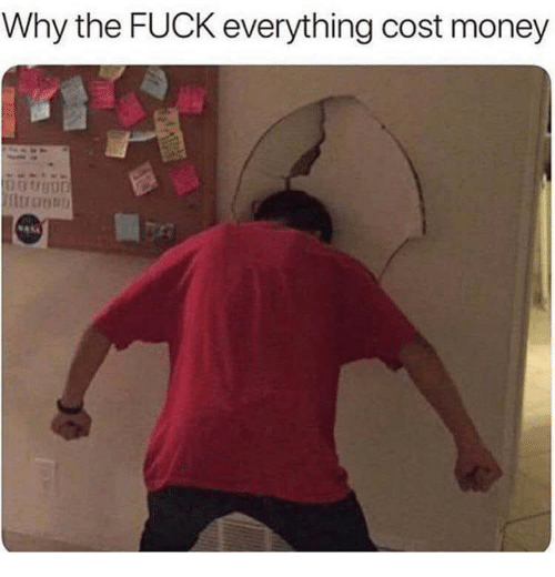 Money, Fuck, and Dank Memes: Why the FUCK everything cost money