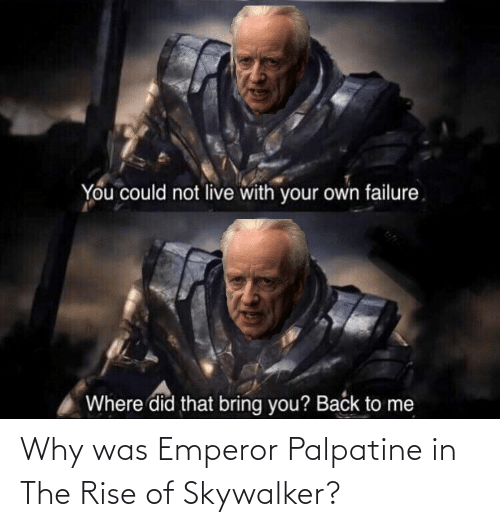 Why Was Emperor Palpatine In The Rise Of Skywalker Emperor