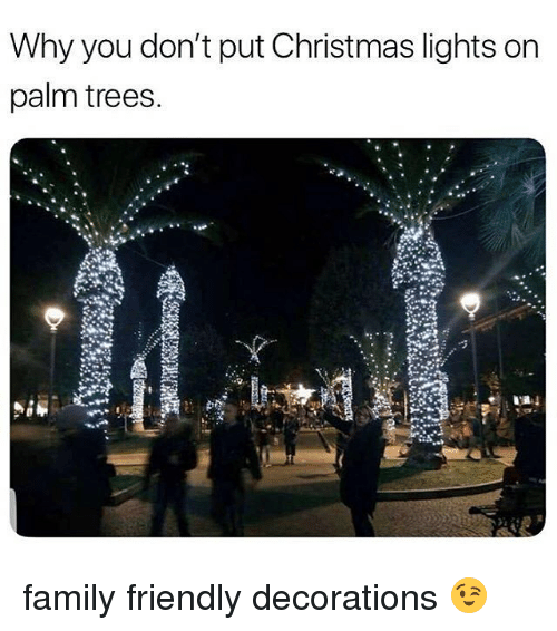 palm trees decorations christmas family and trees why you dont put christmas lights on