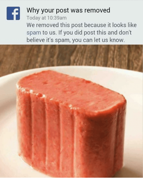 Memes, Today, and 🤖: Why your post was removed  Today at 10:39am  We removed this post because it looks like  spam to us. If you did post this and don't  believe it's spam, you can let us know