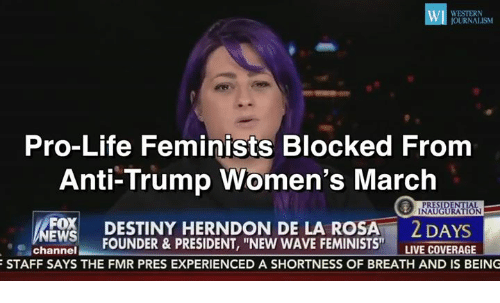 Memes, Waves, and Western: WI WESTERN JOURNALISM Pro-Life Feminists Blocked  From