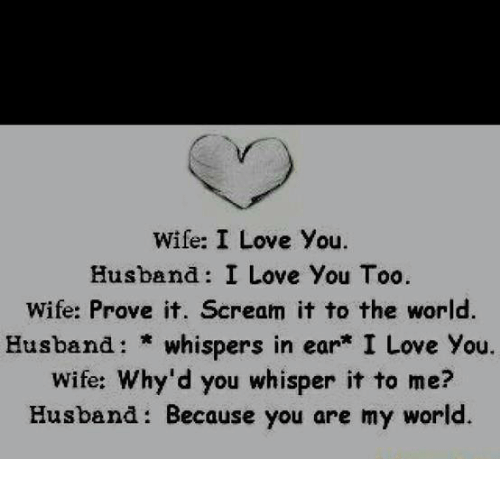 Wife I Love You Husband I Love You Too Wife Prove It Cream It To The