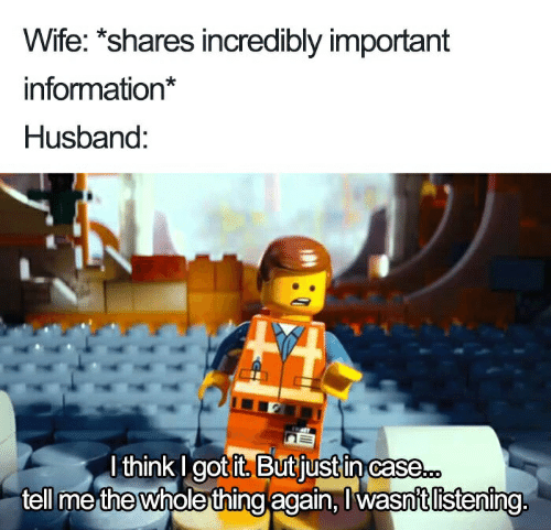 Wife Shares Incredibly Important Information* Husband Lthink