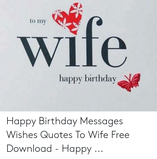 Groovy Wife To My Happy Birthday Happy Birthday Messages Wishes Quotes To Personalised Birthday Cards Paralily Jamesorg