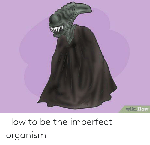 How To, Wiki, and How: wiki How How to be the imperfect organism