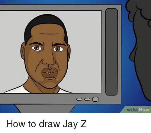 Wiki How How to Draw Jay Z | Jay Meme on ME ME