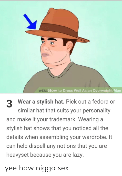 Wiki How to Dress Well as an Overweight Man Wear a Stylish Hat Pick