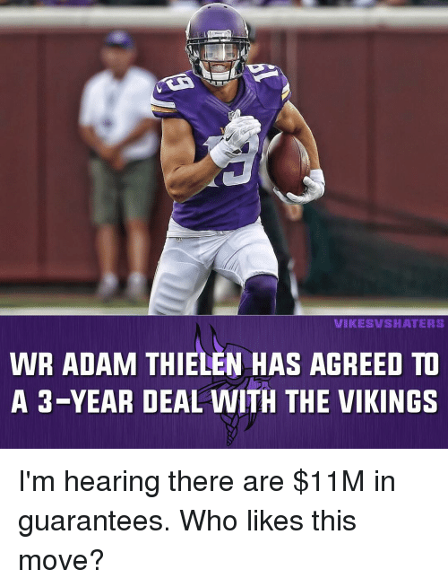 d0c8010f28 WIKIES ASHA TERS WR ADAM THIELEN HAS AGREED TO a 3-Year DEAL WITH ...