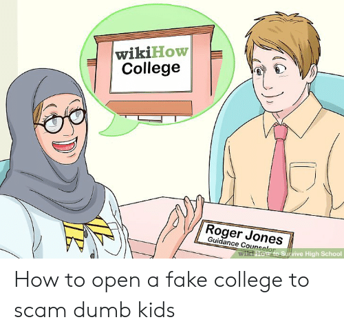 3fde316fa wikiHow College Roger Jones Guidance Counselor S Survive High School ...