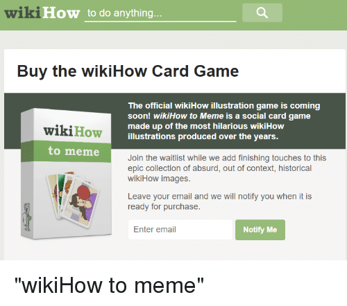 wikiHow to Do Anything Buy the wikiHow Card Game the