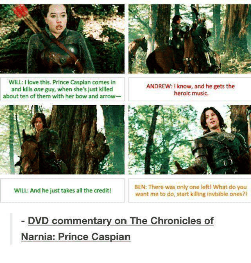 will i love this prince caspian comes in andrew know 5678644 ✅ 25 best memes about chronicles of narnia chronicles of,Narnia Memes