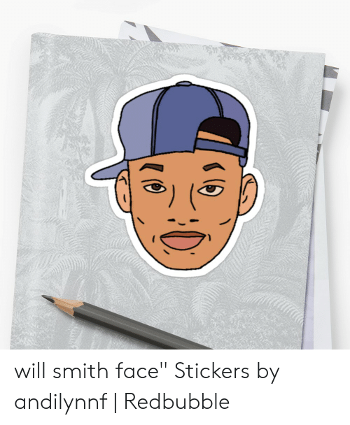Will Smith Face Stickers by Andilynnf | Redbubble | Will Smith Meme
