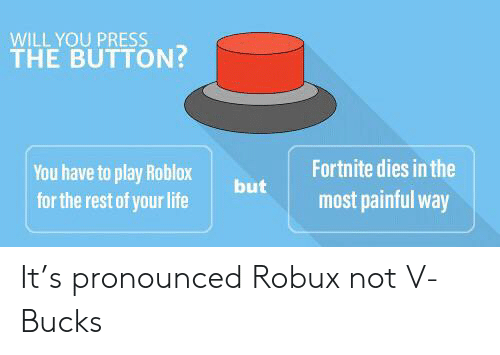 WILL YOU PRESS THE BUTTON? Fortnite Dies in the You Have to
