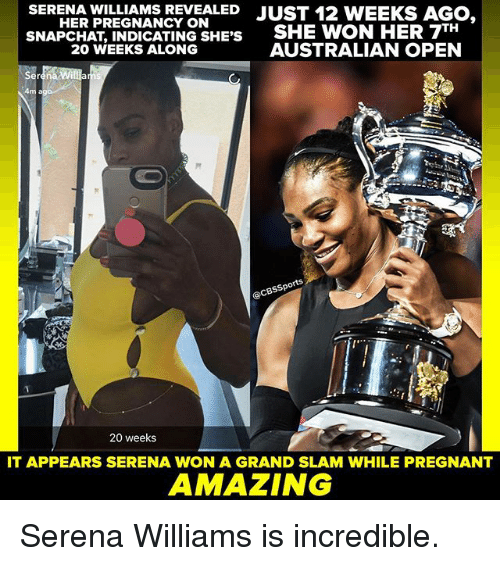 williams revealed just 12 weeks ago her pregnancy on indicating 20431589 ✅ 25 best memes about serena williams serena williams memes