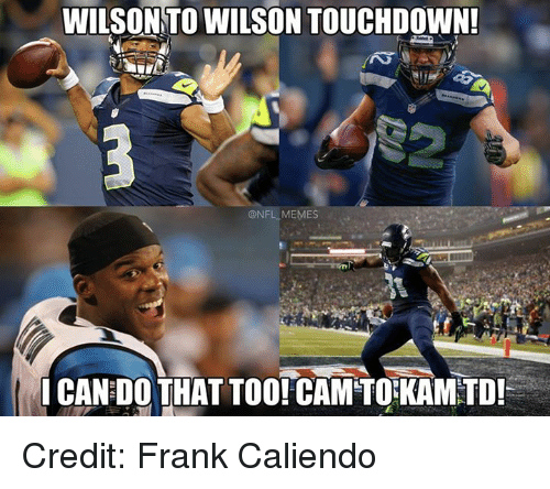 Nfl, Frank Caliendo, and Cam: WILSON TO WILSON TOUCHDOWN!  ONFL MEMES  ICAN DO THAT TOO! CAM TO KAMTD! Credit: Frank Caliendo