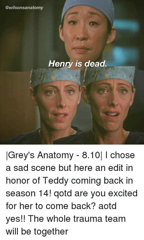 Henry Is Dead |Grey\'s Anatomy - 810| I Chose a Sad Scene but Here an ...