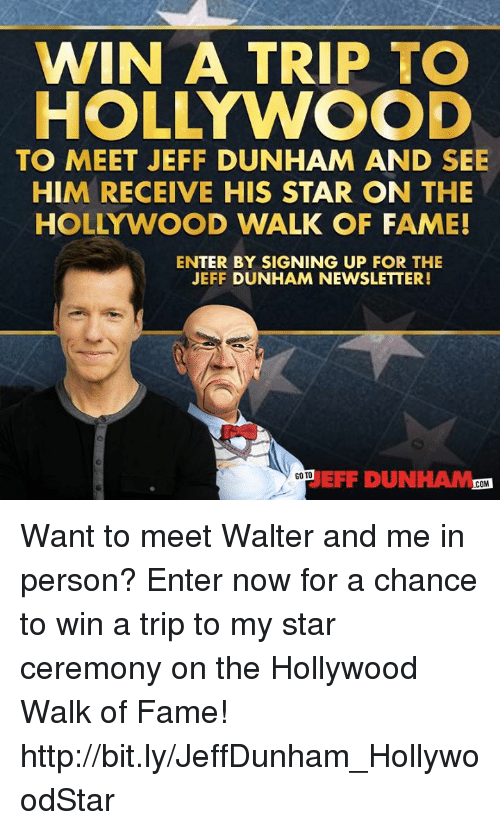 Win a trip to hollywood to meet jeff dunham and see him receive his dank http and star win a trip to hollywood to meet jeff dunham m4hsunfo