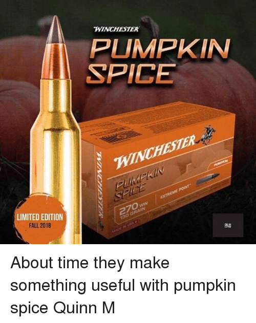 Winchester Pumpkin Spice Winchester Limited Edition Fall 2018 270