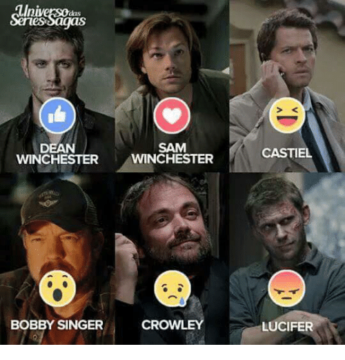 WINCHESTER WINCHESTER CROWLEY BOBBY SINGER CASTEL LUCIFER