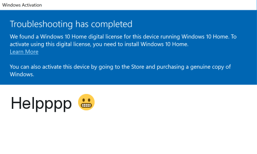 Windows Activation Troubleshooting Has Completed We Found a Windows