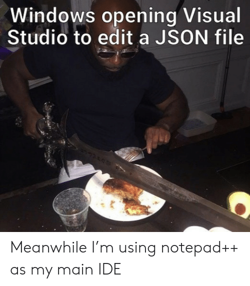 Windows, Json, and Visual Studio: Windows opening Visual  Studio to edit a JSON file Meanwhile I'm using notepad++ as my main IDE