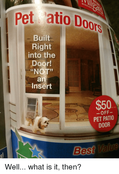 Windows Best And What Is Pet Atio Doo Built Right Into The
