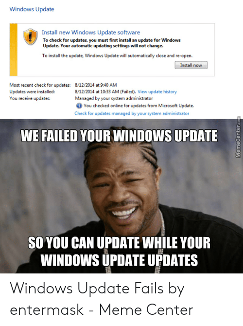 Windows Update Install New Windows Update Software to Check