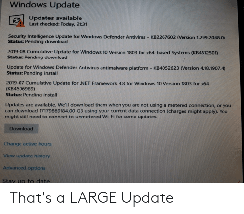Windows Update Updates Available Last Checked Today 2131