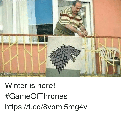 Winter, Gameofthrones, and  Winter Is Here: Winter is here! #GameOfThrones https://t.co/8voml5mg4v