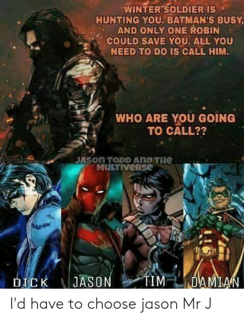 WINTER SOLDIER IS HUNTING YOU BATMAN'S BUSY AND ONLY ONE