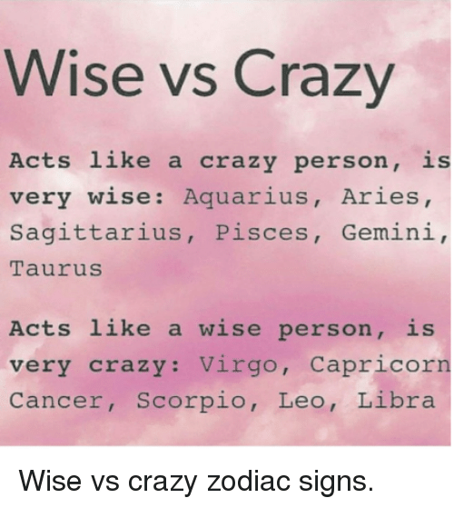 Signs of a crazy person