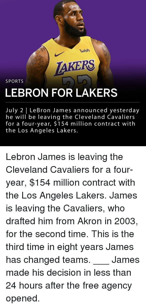 7e3a1aac855c Wish AKERS SPORTS LEBRON FOR LAKERS July 2