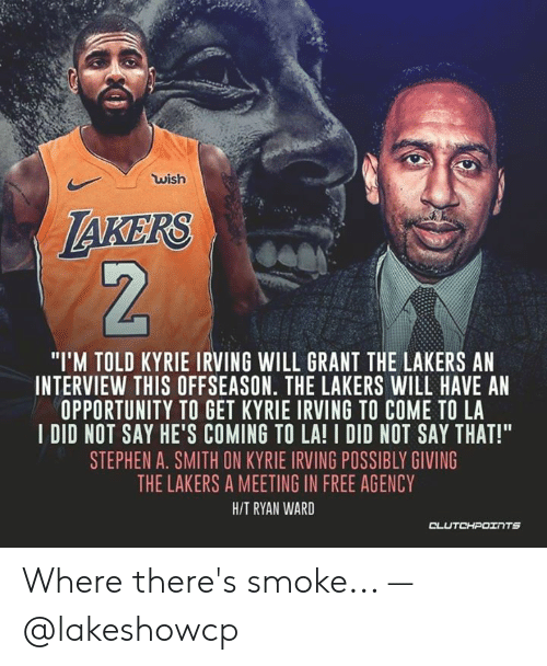 66298280a Wish laKERS I M TOLD KYRIE IRVING WILL GRANT THE LAKERS AN INTERVIEW ...