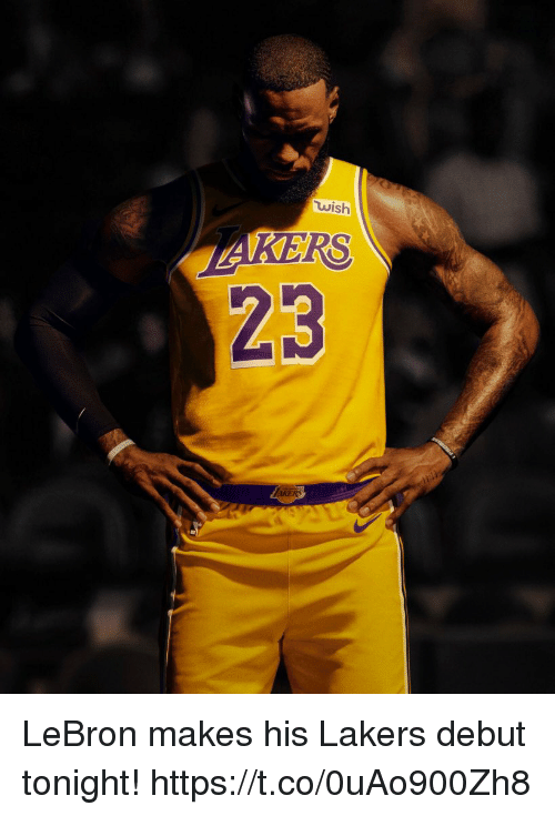 check out ebef5 9a2a4 Wish RS 23 AKERS LeBron Makes His Lakers Debut Tonight ...