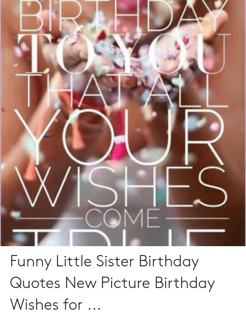 Stupendous Wishes Funny Little Sister Birthday Quotes New Picture Birthday Funny Birthday Cards Online Inifofree Goldxyz