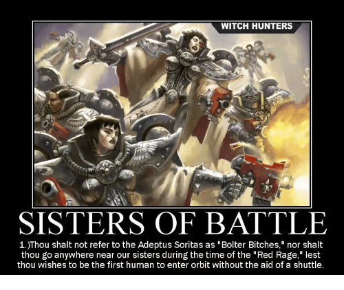 Witch Hunters 0 Sisters Of Battle 1thou Shalt Not Refer To The